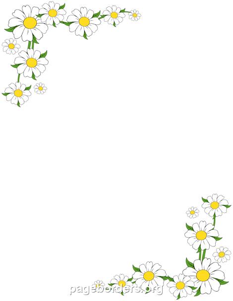 leaf border writing paper