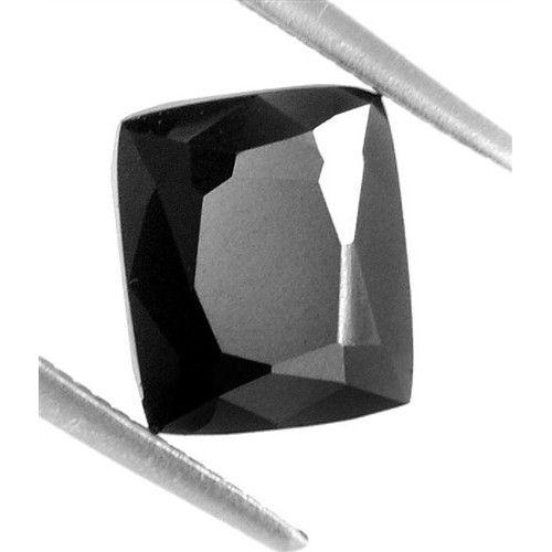1.73 Ct Cushion Cut Black Diamond - AAA Deluxe