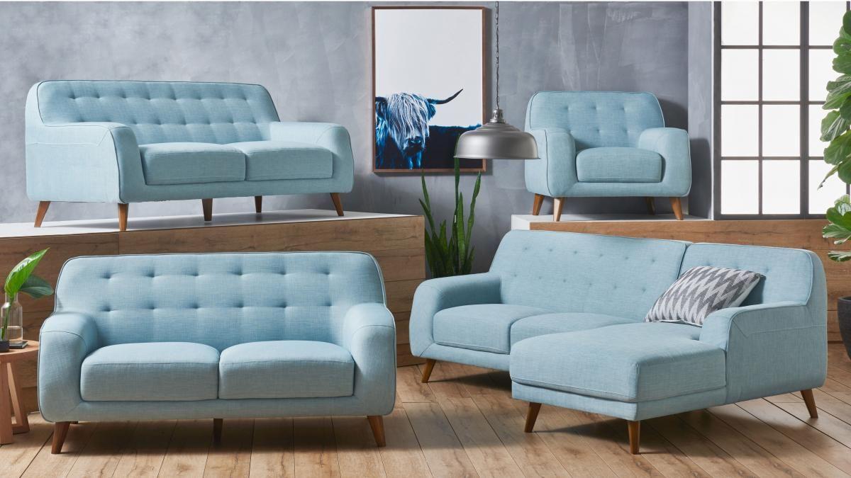 Buy Brosnan Fabric Armchair Harvey Norman Au Fabric Sofa Light Blue Living Room Fabric Armchairs