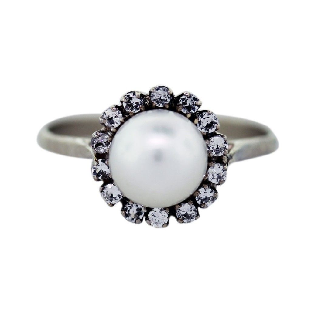 pearl pearls rings wedding ring engagement simple