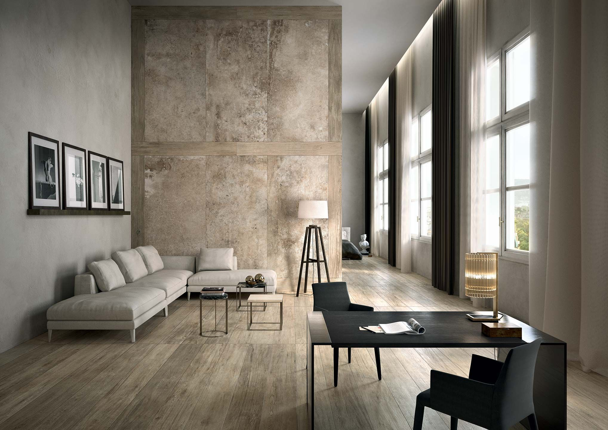 Ceramic Porcelain Stone Tiles For Floor And Wall La Roche Furniture Interior Design Interior #stone #tiles #for #living #room #wall