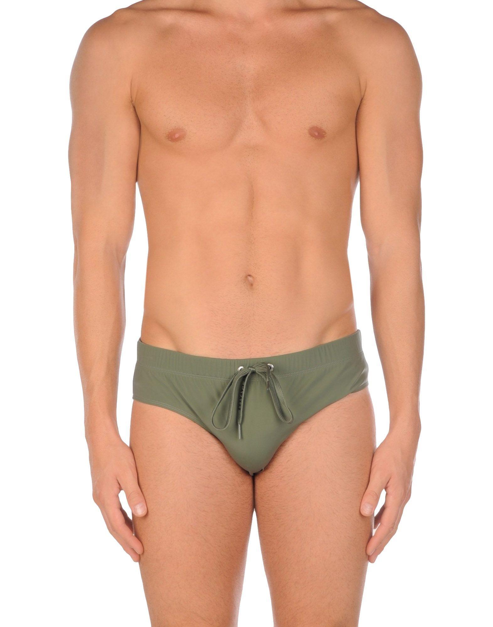500f808bf4 JUST CAVALLI BEACHWEAR Brief trunks Military green Polyamide Elastane men  Swimwear