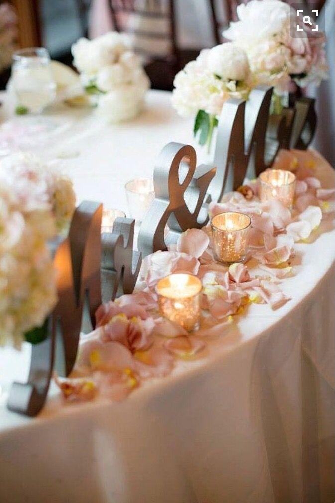 Bride and groom table wedding hochzeit deko tischdeko hochzeit braut - Brautpaar tischdeko ...