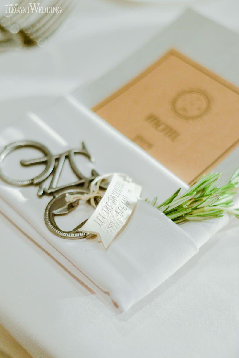 Bicycle Wedding Napkin Holder | Wedding Table Settings | Pinterest ...