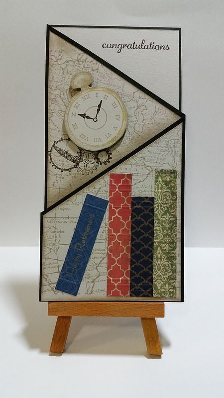tri z book  clock retirement card  front view