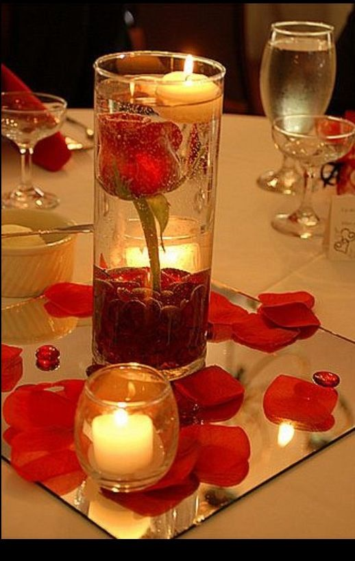 Centerpieces For Engagement Party Red Wedding Centerpieces Candle Wedding Decor Flower Centerpieces Wedding