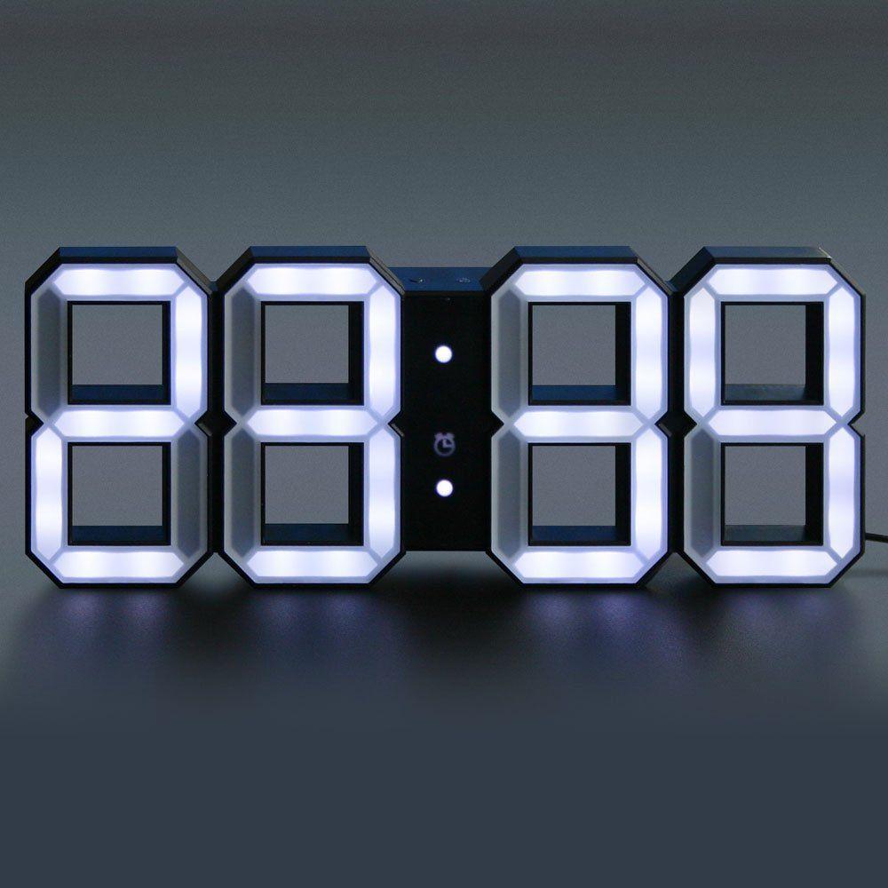 Kibardin White & White Clock Black Edition White clocks
