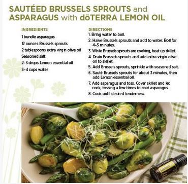 Doterra lemon essential oil uses with diy and food recipes sauteed brussels sprouts and asparagus with doterra lemon oil forumfinder Images