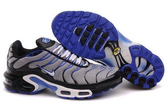 Homens Nike Air Max TN Preto Azul Branco saída Online