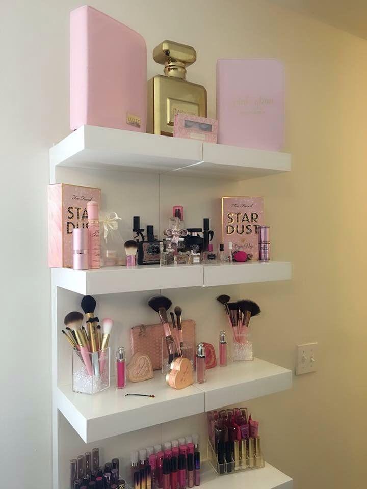 Makeup Shelf Organizer Shelf Organization Makeup Shelves Shelves