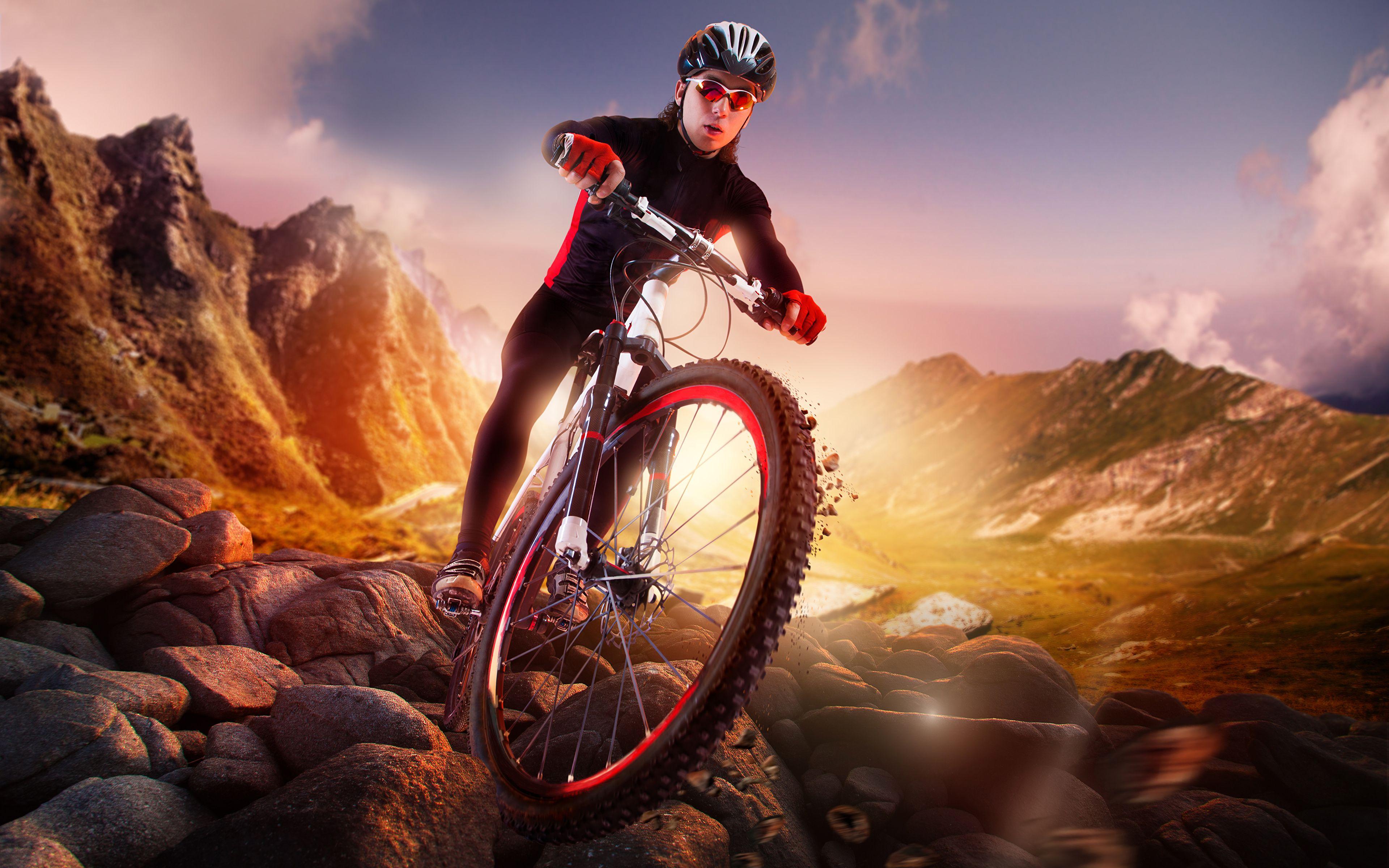 Image result for mountain biking wallpaper 4k Retrato, Artes