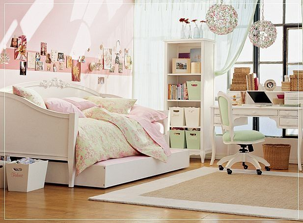 Pretty Teen Rooms room designs for teenage girls | love the pale rose color. pretty