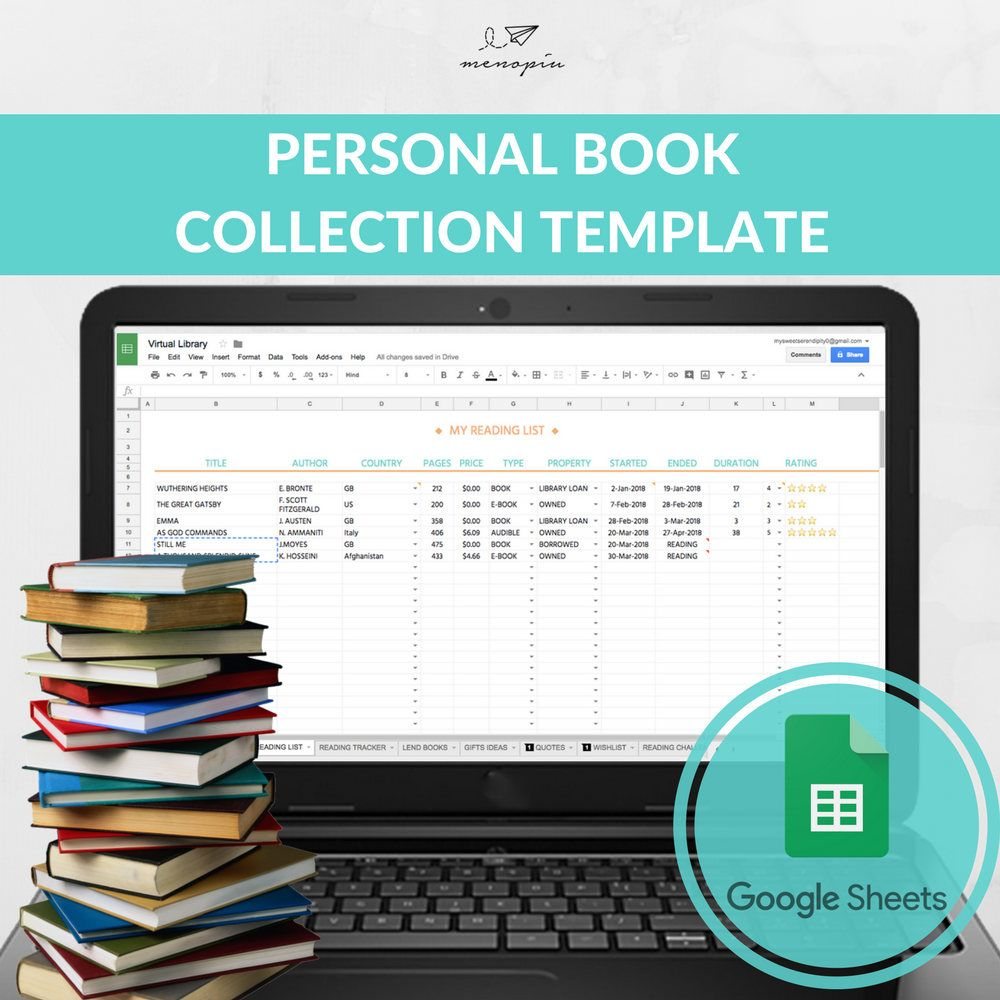 how to catalog books in excel