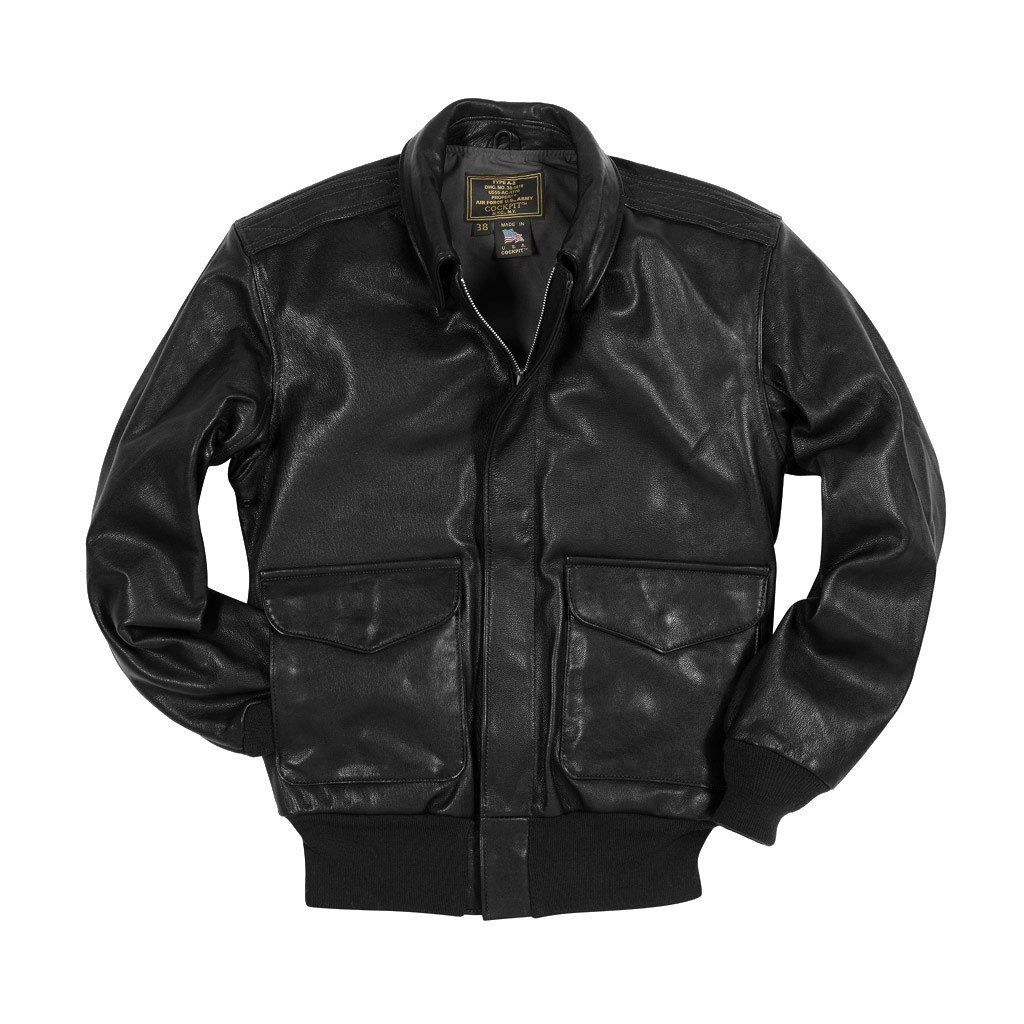 This men's A2 leather flight jacket is a reintroduction