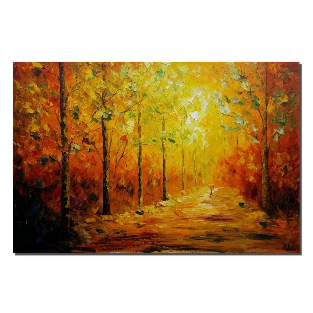 Autumn Park, Canvas Art, Landscape Painting, Oil Painting, Original ...