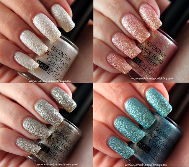 Seventeen Rock Hard Couture Nail Effects: Swatches | Nails ...