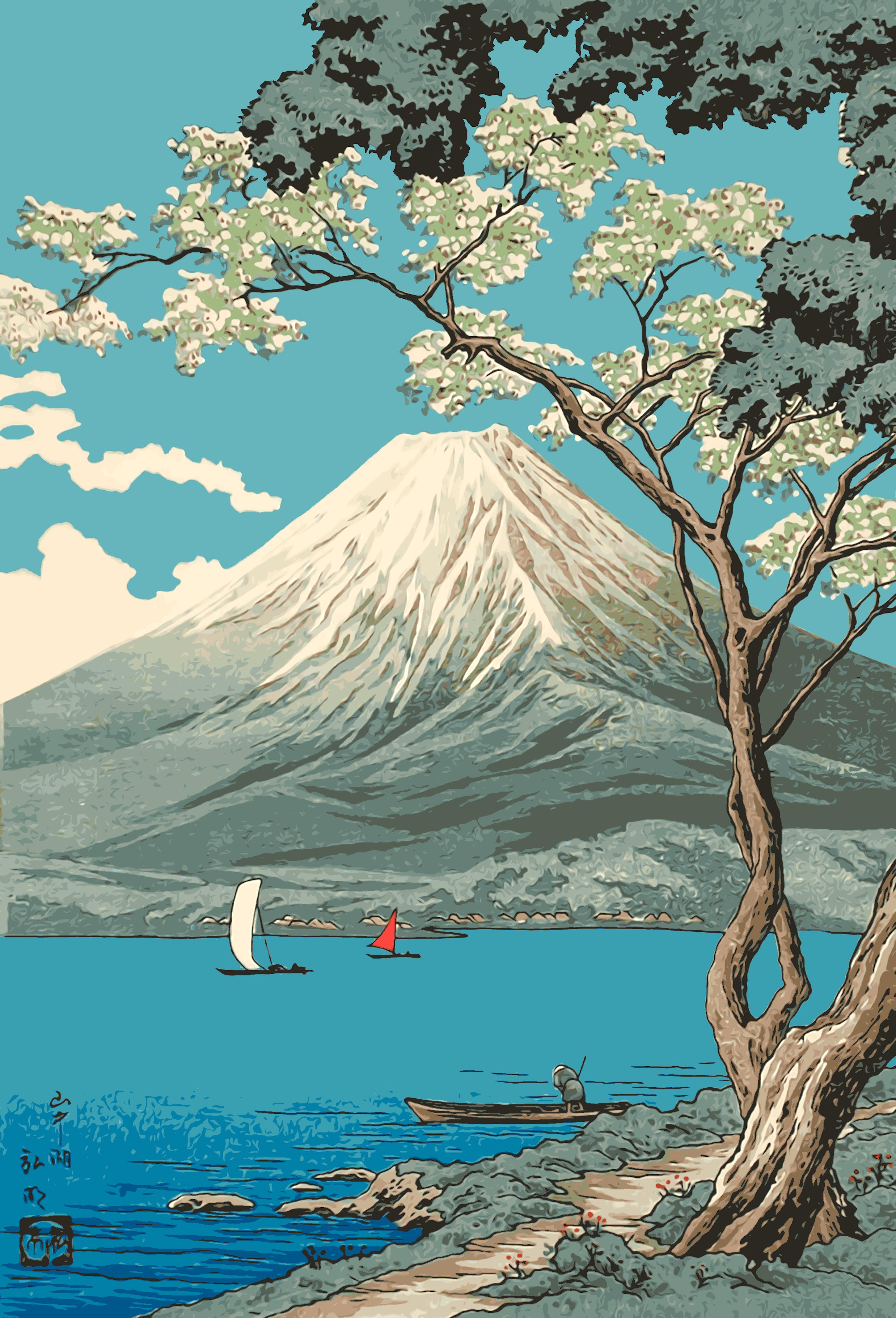 Mt. Fuji from Lake Yamanaka - Takahashi Hiroaki