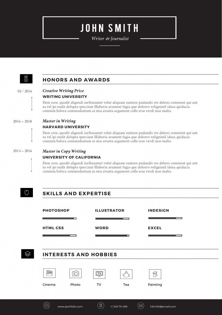 sleek resume template pag 2