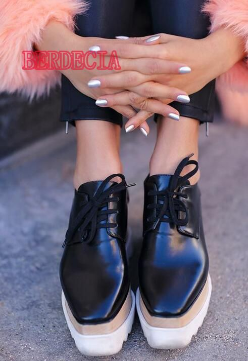 3209fb91cdf1 2017 Spring Fashion Mixed Color Stars Patchwork Women Platform Shoes Free  Style Ladies Lace Up Casual
