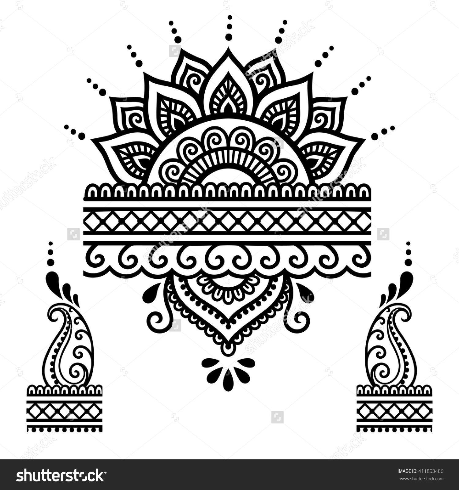 Henna Tattoo Flower TemplateMehndi  Tattoo    Flower