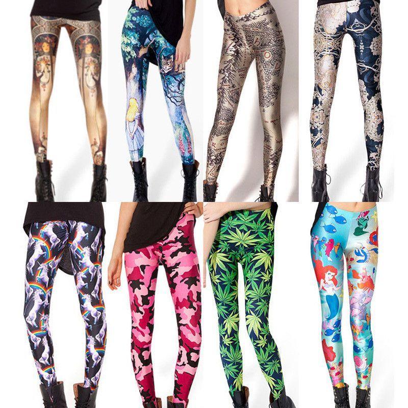 Womens Trendy Design Fit Stretch Leggings