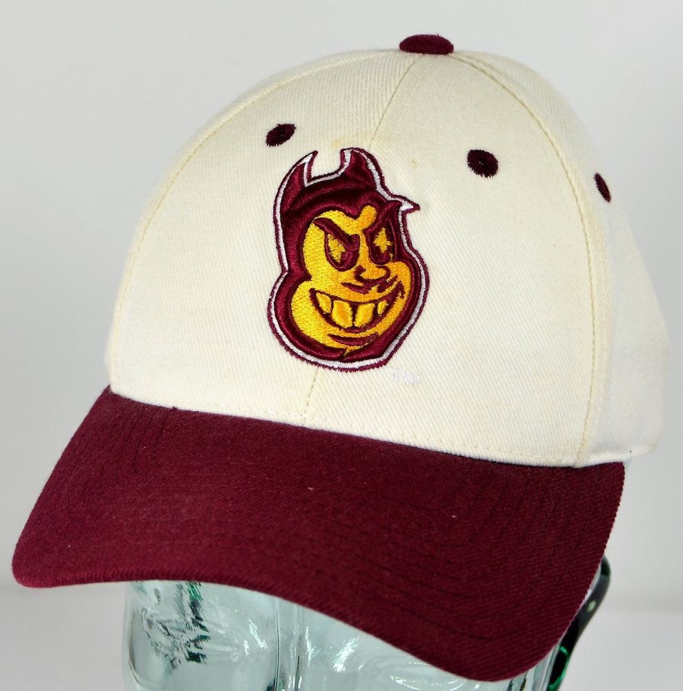 bdc6989a6e2 Arizona State University Sun Devils Sparky Fitted Hat Size 7 ASU  Embroidered  TopoftheWorld  ArizonaStateSunDevils