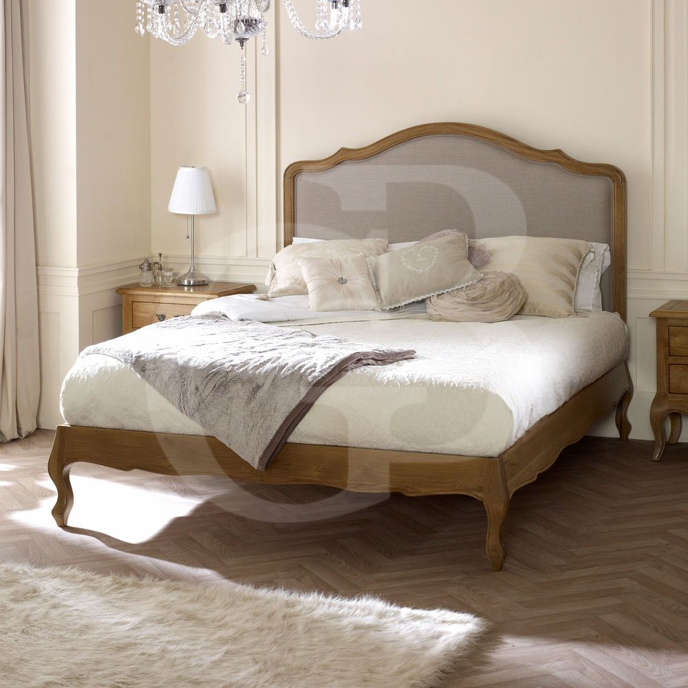 New Solid Oak Upholstered French Low Foot Board Bed Egb50 Classic Bed Frame French Style Bed Upholstered Bedroom Bedroom Furniture