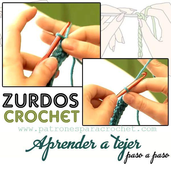 Como Aprender A Tejer Crochet Para Principiantes Crochet Para Zurdos Tutoriales De Aprendizaje Ganchillo Zurdos