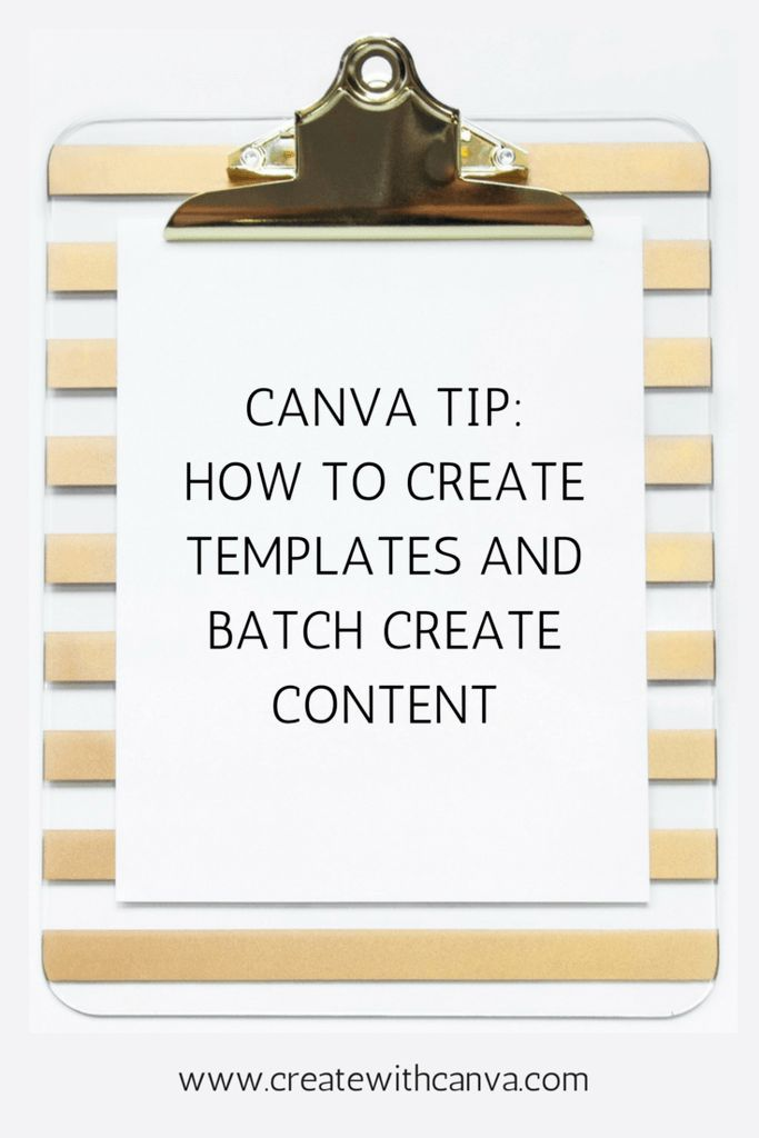 Canva tip how to create templates and batch create