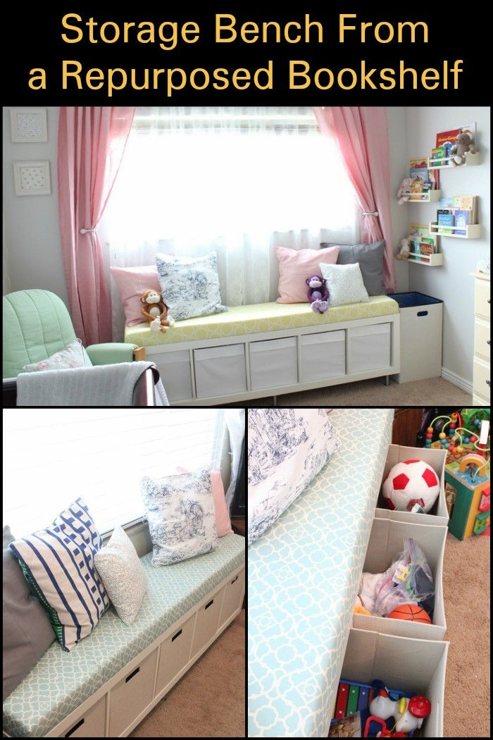 Build Your Own Storage Bench by Repurposing a Bookshelf! | Home ...