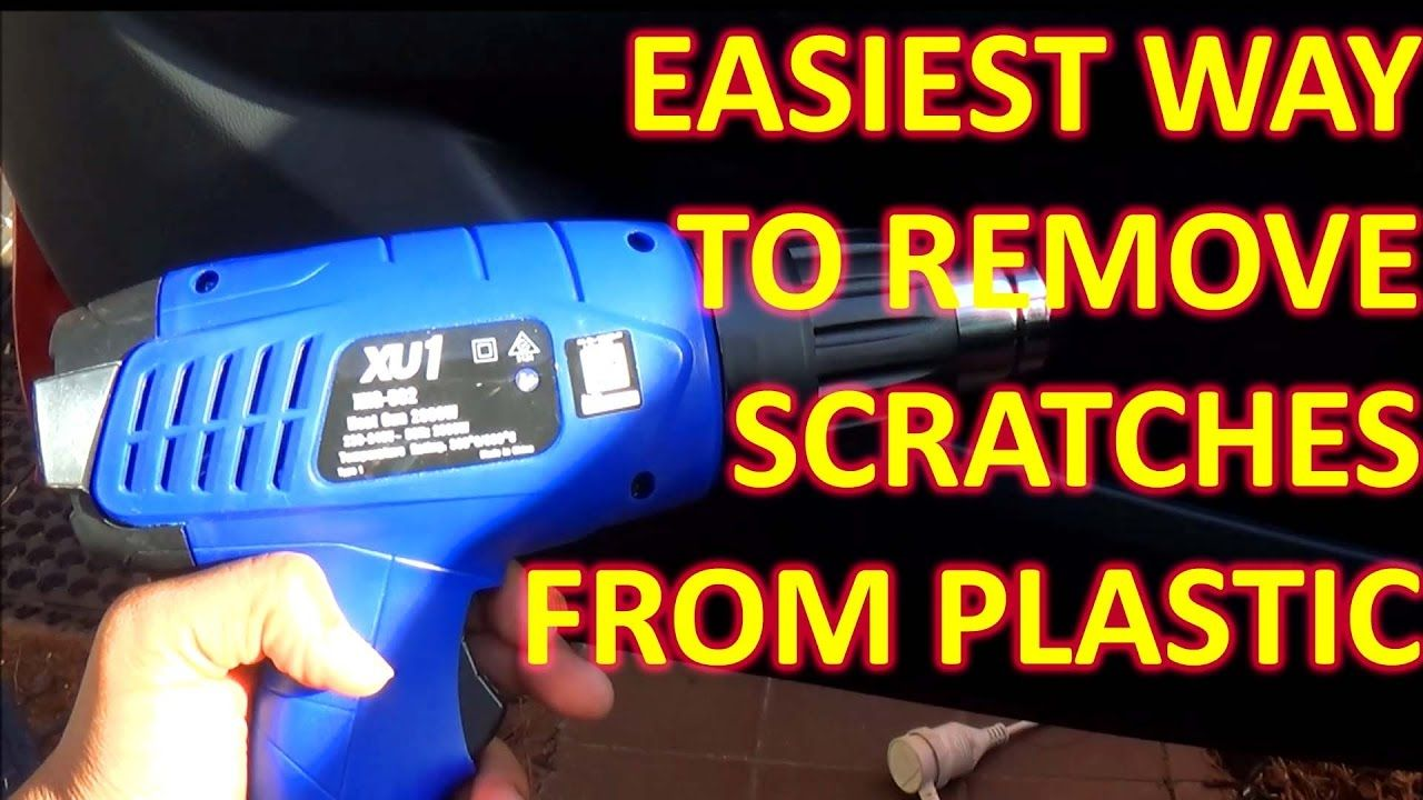 How to remove SCRATCHES from plastic PERMANANTLY Car