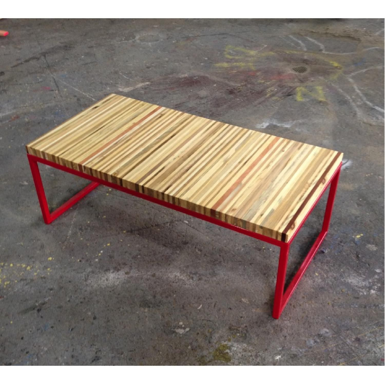 Streetwood Inc Reclaimed Pallet Wood and Steel Bench ...