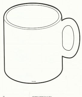 Hot Chocolate Mug Template Printable Sketch Coloring Page Mug