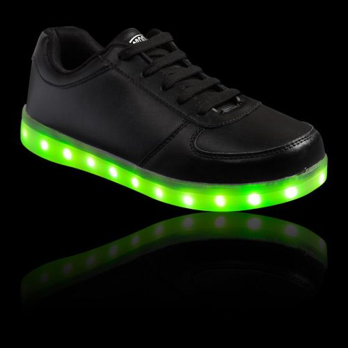 Children LED Light Up Dance Boot With Angel Wing Running Sneaker High-top Shoes