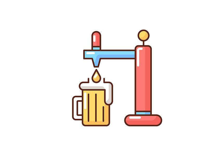 Draught Beer Rgb Color Icon Draft Beer Beer Craft Beer