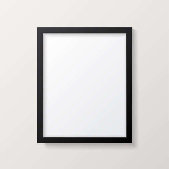 e5d994041639 Frame Mockup - Black Picture Frame - Poster Mock up - Vertical - Poster  Template - PSD - Vector AI E