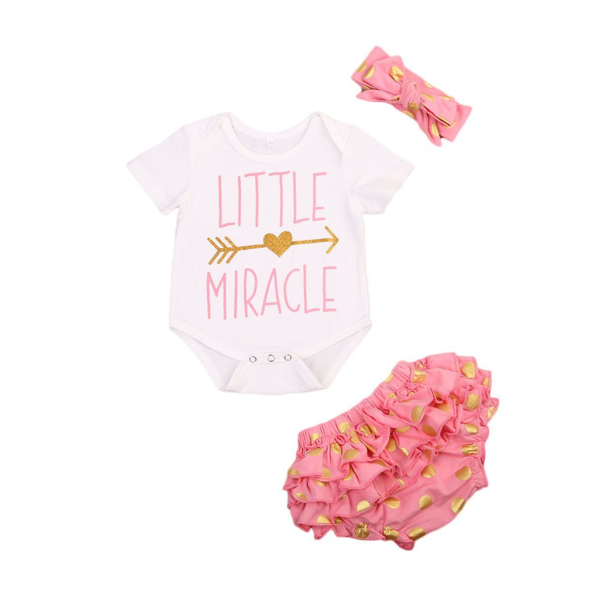 c0164993e Newborn Baby Clothing Girls Princess Outfits Clothes Rompers+Floral ...
