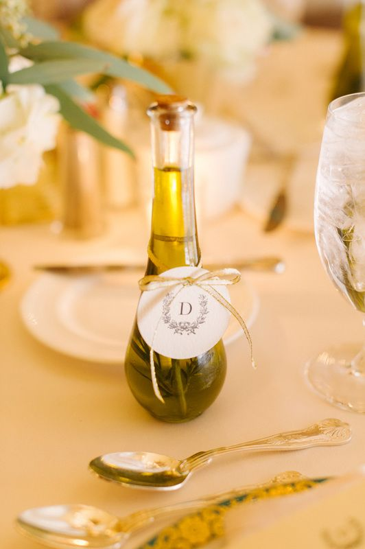 Rosemary infused olive oil as wedding favors | Happily Ever After in ...