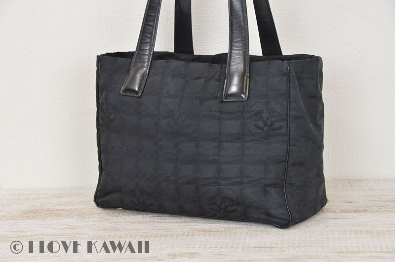CHANEL Black New Travel Line Tote Bag PM A20457  7d84dd815900c