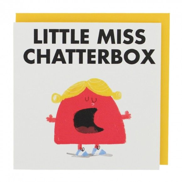 Little Miss Chatterbox Card Birthday Cards For Her Cards Birthday Cards