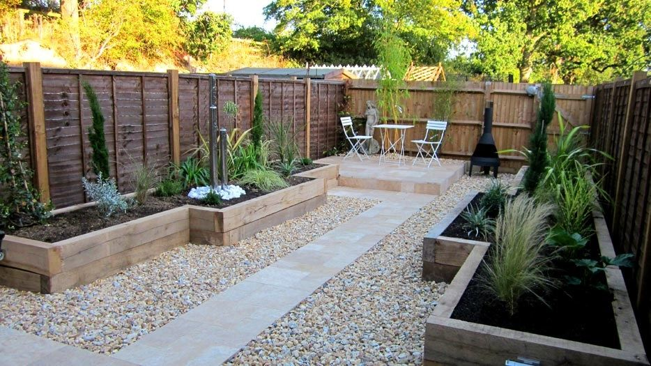 Raised beds | Small backyard landscaping, Low maintenance ...