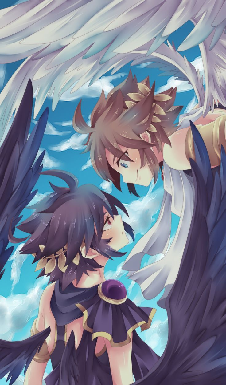 pit and dark pit Google Search Dark pit kid icarus
