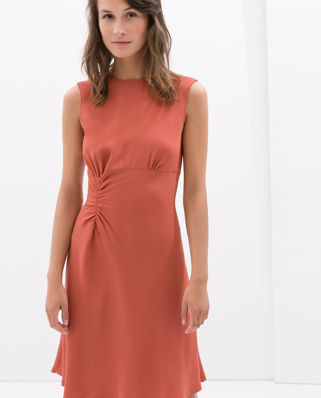 ZARA - WOMAN - DRESS WITH SIDE GATHERING $11.11 #officetrends