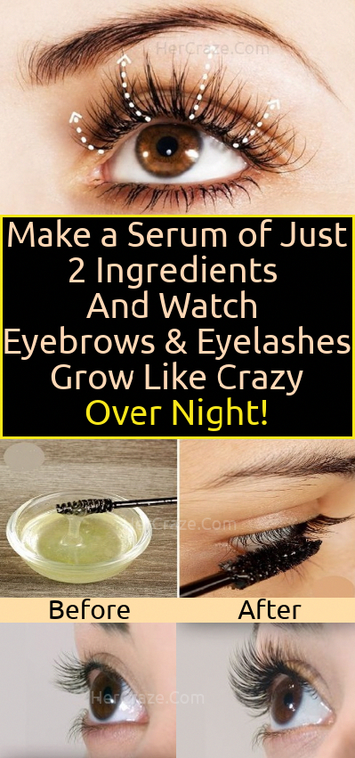 Old Grandmas Remedy Use This 2 Ingredient Serum To Grow Long Thick Eyelashes And Eyebrows In Just 3 Days -