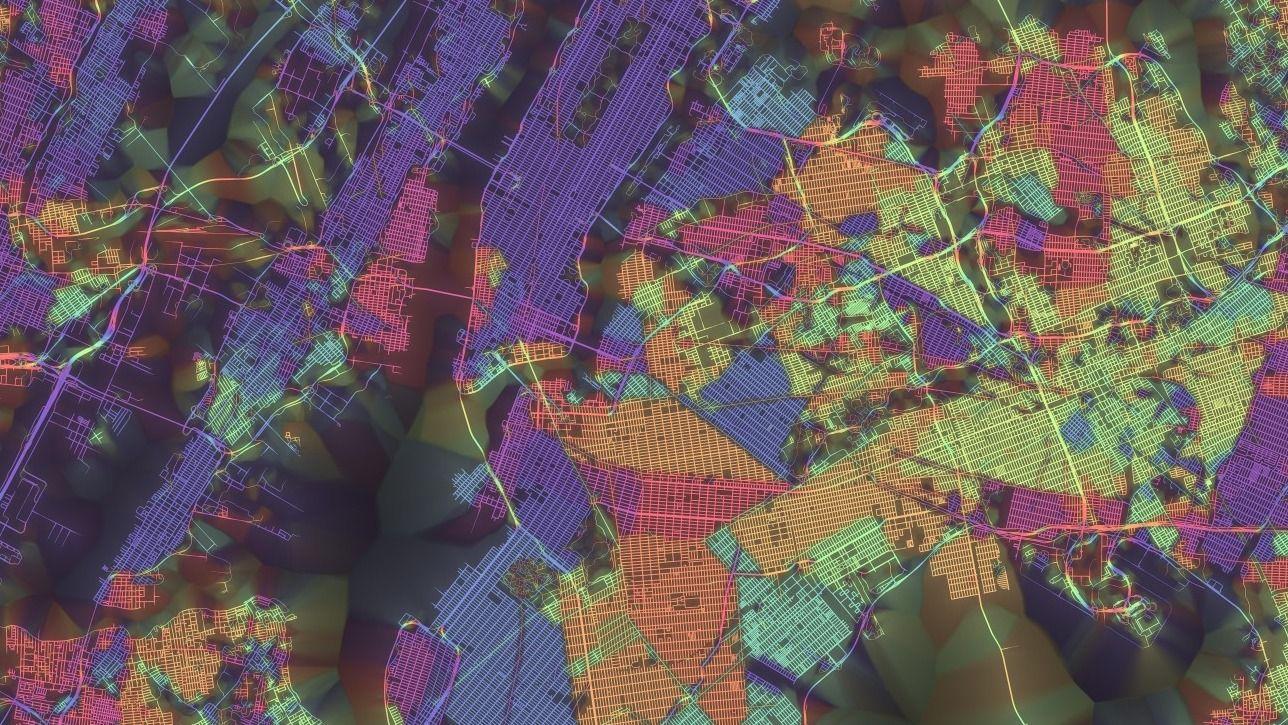 """Os mapas coloridos da série """"Crayon the Grids"""" oferecem um novo olhar para algumas das maiores cidades do mundo"""