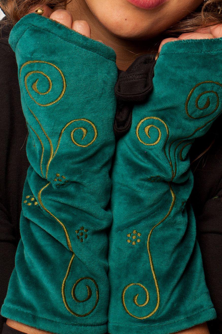 gekko poignet warmers Arm warmers mitaines pixie clothes fleece gants