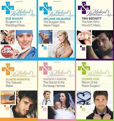 Mills & Boon Medical ____ 6 Book Set ___ Brand New ___ Freepost Uk