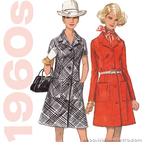 "1960s Dress Vintage Sewing Pattern. Butterick 5456. 37"" Bust"