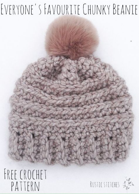 Everyone\'s Favourite Crochet Beanie - Free Pattern from Rustic ...