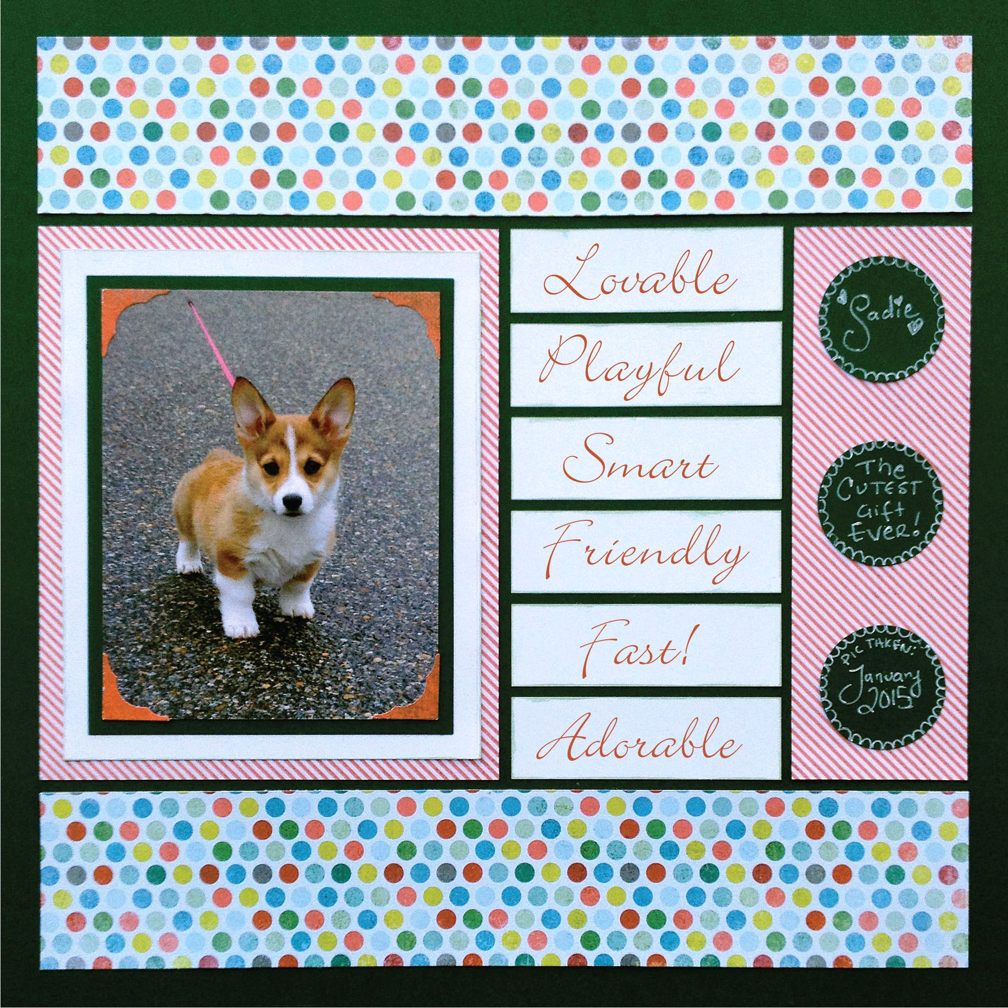 Scrapbook ideas list - Holiday Scrapbook Layouts A Puppy For Christmas Love The List And There Is A